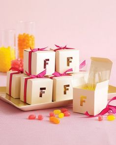 "See the ""Alphabet Favor Boxes"" in our Alphabet Bridal Shower gallery"