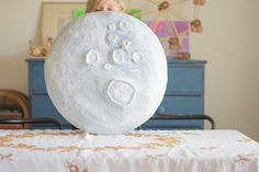 "Recently, I had some giant pieces of cardboard laying around, that I just couldn't part with. You know, it's not everyday you have giant pieces of cardboard, so I asked Jacks, ""Do you want to make a giant moon?"" And that's exactly what we did! You'll need the following supplies for this project: Giant cardboard Plastic …"