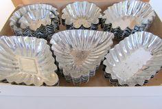 Vintage Tartlet Tin Mold Set Jello Molds Set of 48 by teresatudor, $9.99