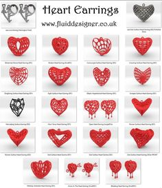 Blender + JewelCraft + Fluid Designer for Printing Heart Earrings, Artwork Prints, Personalized Jewelry, Create Your Own, 3d Printing, Jewelry Design, Jewellery, Personalised Jewellery, Impression 3d