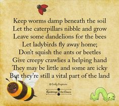 Visit the post for more. Bee Poem, Plastic Grass, My Favourite Teacher, Animal Magic, Camping Theme, Helping Hands, Finding Peace, Worms, Caterpillar