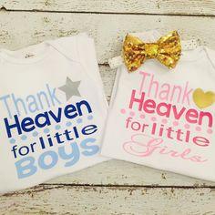 Thank Heaven for babies! #newborngirl #newbornboy #newbabygift #twins #twinpregnancy