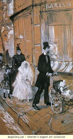Henri de Toulouse-Lautrec. First Communion Day. 1888. Grisaille on cardboard. 63 x 36 cm. Musée des Augustins, Toulouse, France