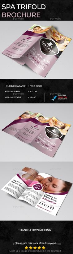 Spa Brochure Design Spa pegs Pinterest Brochures, Spa and - spa brochure