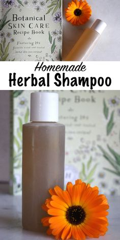 Homemade Herbal Shampoo ~ This simple herbal hair care recipe comes from the Herbal Academy Botanical Skin Care course. Learn how to make your own herbal hair and skin care products! care Source by primalsurvivors Unscented Shampoo, Hair Care Oil, Diy Hair Care, Natural Hair Conditioner, Homemade Conditioner, Hair Care Recipes, Homemade Skin Care, Homemade Products, Recipes