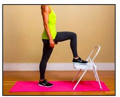 Pop A Squat! The Anywhere Chair Workout -- All you need is a sturdy chair and some motivation!