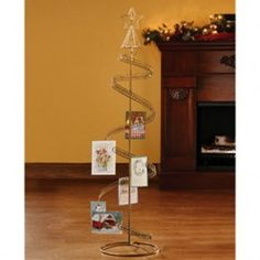 Walter Drake spiral tree card holder displays holiday cards in dashing style. Freestanding design showcases more than 100 cards or photos easily. Christmas Tree Card Holder, Spiral Christmas Tree, Christmas Tree Template, Spiral Tree, Pallet Christmas Tree, Cute Christmas Tree, Christmas Decorations For The Home, Diy Christmas Cards, Christmas Home