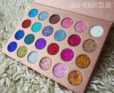 Bomb Dot Com - 24 Shade Glitter Palette - new_make_up_pintennium Pigment Eyeshadow, Makeup Eyeshadow, Makeup Brushes, Eyeshadows, Mac Lipsticks, Makeup Remover, Makeup Goals, Makeup Kit, Beauty Makeup