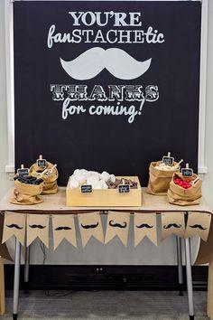 Black & White Mustache Birthday Party via Kara's Party Ideas… Baby Boy Birthday, 40th Birthday, 1st Birthday Parties, Lego Parties, Birthday Presents, Birthday Cupcakes, Moustache Party, Mustache Theme, Mustache Party Favors