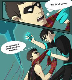 The Knitter and The Manipulator, the fan-made DC villains :3 I SHIP IT