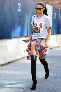 Produções lindas com botas over the knee… Adoro!!!!!!! Tem tudo para virar o HIT do inverno, concordam?! Miroslava Duma também é fã… Fotos: Reprodução