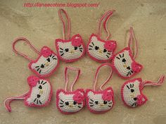 Kitty keychain - (scroll down for English pattern)