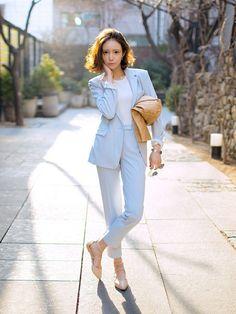 light blue fashion