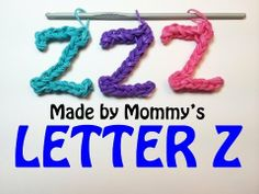 LETTER Z Charm (no loom). Designed and loomed by Made By Mommy. Click photo for YouTube tutorial. 04/16/14.