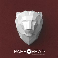 Wall-type Lion Head template PDF by PaperheadDesign on Etsy