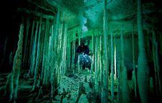 Underwater cave where Iris hides