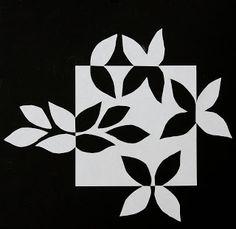 Fast Friday Fabric Challenge: Leaf Notan