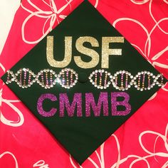 #USF class of 2015 graduation cap! University of south Florida. #dna #cmmb