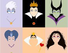 Villains on Behance Disney Princess Paintings, Disney Paintings, Disney Princess Art, Disney Pin Up, Evil Disney, Cute Canvas Paintings, Diy Canvas Art, Arte Disney, Disney Art