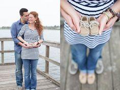 Nautical pregnancy announcement.