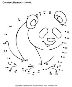Panda Bear dot to dot
