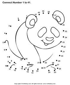 Panda Bear dot to dot