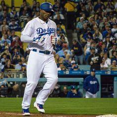 THINK BLUE: Took this one for the sickest Cubano I know @jordan23jm #Dodgers #Yasiel #Puig #Cuba #OyeCono #thinkblue #welovela #itfdb #LosAngelesDodgers #conquer_la #abc7eyewitness #sportsphotography #baseball by nachhho
