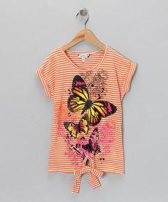 Orange Stripe Butterfly Tee from Speechless on #zulily!