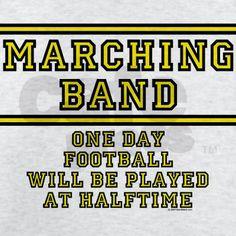 Marching Band Humor | Band Gifts  Band T-shirts  Marching Band: Football At Halftime Light ...
