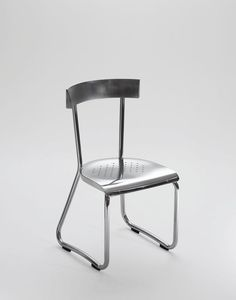Gio Ponti Montecatini aluminum chair re-edition for Molteni