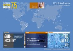 BUSINESS BEYOND USUAL - 75 Years Ucla Anderson, Tomorrow Today, Management, History, Business, School, Historia, Schools, Business Illustration