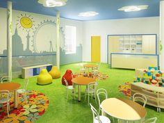 The model project of interior design   Kindergarden furniture