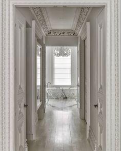 All white bath ballroom