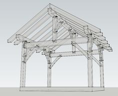 12x14 Timber Frame Plan - Timber Frame HQ - http://timberframehq.com/12x14-timber-frame-plan/?utm_content=buffer4cd56&utm_medium=social&utm_source=pinterest.com&utm_campaign=buffer