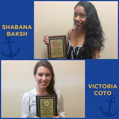 Big Congratulations to our Outstanding Intern of the Year Award Recipients of 2014: Shabana Baksh & Victoria Coto!