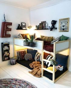 Top süße moderne Kinder Schlafzimmer Ideen – Home of Pondo – Home Design Top cute modern kids bedroom ideas – home of pondo – home design, Kura Ikea, Ikea Bunk Bed Hack, Kids Room Design, Home Design, Design Ideas, Design Bedroom, Design Design, Wall Design, Modern Design