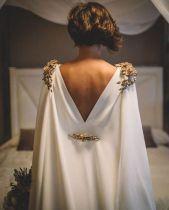 detalhes encantadores vestido de noiva mangas costas e capas 2018 2019 vestidos incríveis vestidos únicos mode robe de mariée manches dos nu capes robes uniques wedding dresses incredible sleeves capes back