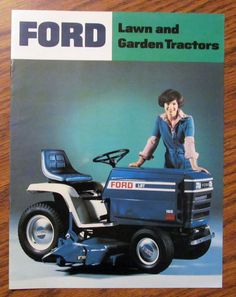 Ford LGT 165 145 125 120 100 LT 100 80 Lawn Garden Tractor Sales Brochure 1977 #ford