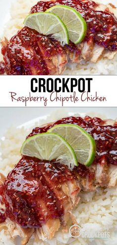 A yummy twist on Chicken! This Crockpot Raspberry Chipotle Chicken is good shredded, with rice, or on sandwiches! This is a must try Recipe!