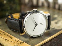Vintage watch Minimalist watch Soviet watch