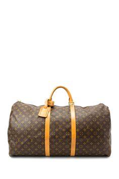 SALE: Vintage Louis Vuitton Leather Keepall 60 Travel Bag
