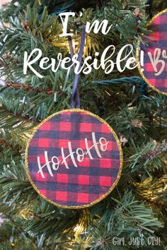 Make these reversible Buffalo Plaid Christmas Ornaments for your tree or for gifts. Heck even as a bonus tie on for gift wrap. : Make these reversible Buffalo Plaid Christmas Ornaments for your tree or for gifts. Heck even as a bonus tie on for gift wrap. Buffalo Plaid Christmas Ornaments, Diy Christmas Ornaments, Homemade Christmas, Christmas Projects, Holiday Crafts, Christmas Decorations, Christmas Ideas, Country Christmas, Holiday Decor