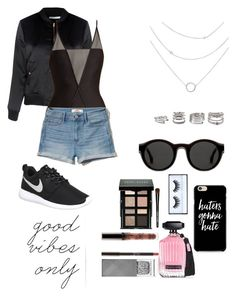 """Vibes"" by sonianguyen98 on Polyvore featuring Glamorous, ADRIANA DEGREAS, Hollister Co., Forever 21, NIKE, Mykita, Bobbi Brown Cosmetics, Victoria's Secret, Burberry and Huda Beauty"
