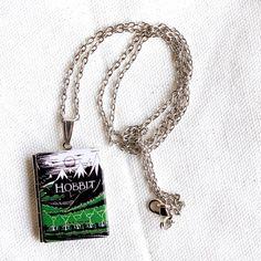 The Hobbit Pendant  Book Locket Tolkien by junkstudio on Etsy, $19.00