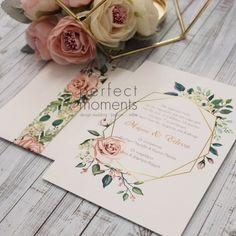 Προσκλητήριο γάμου diamond flowers Wedding Favors, Wedding Invitations, Wedding Decorations, Greek Wedding, Floral Wedding, Wedding Planning, Place Card Holders, Bridal Showers, Party