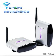 2.4GH150M Inalámbrico Transmisor y Receptor de AV TV Audio Video remitente receptor de Señal de TV de Radiodifusión 3 RCA para HDTV DVD