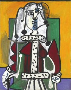 """Pablo Picasso, """"Woman in an armchair"""", 1940"""