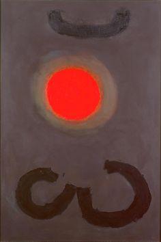 "Adolph Gottlieb (American, 1903–1974) Links, 1963 Oil on canvas 60 1/4"" × 40 1/4"""