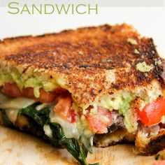 Loaded Veggie Grilled Cheese Sandwiches | The Dreaming Foodie