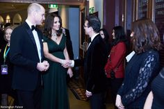 Before the ceremony, William and Kate met BAFTA nominees